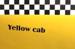 Background yellow cab, New York, USA Stock Photos