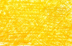 Background yellow crayon drawing Royalty Free Stock Photo