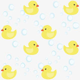 The background of yellow ducklings. Stock Photography
