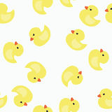The background of yellow ducklings. Royalty Free Stock Photography
