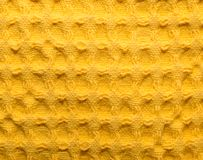 Background of yellow fabric Stock Photography