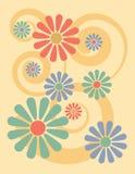 Background_Yellow floral ilustração do vetor