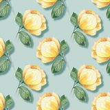 Background with yellow flowers 22. Hand drawn watercolor floral seamless pattern. Background with flowers Stock Photos