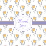 Thank You floral background Royalty Free Stock Image