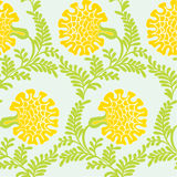 Background with yellow flowers. Seamless texture Stock Photography