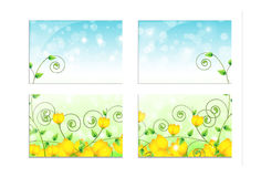 Background with yellow flowers on the window Royalty Free Stock Photos
