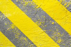 Background, yellow-gray warning stripes. Warning of danger. Horizontal frame Stock Photo