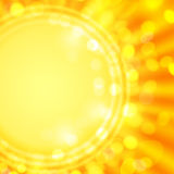 Background. Yellow background with the image of the stylized sun Royalty Free Stock Photos