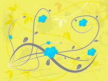 Background Yellow Indicates Florist Flowers And Template Royalty Free Stock Image