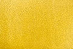 Background yellow leather texture. For your backdrop, with copy space Stock Image