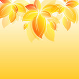 Background with yellow leaves Stock Image