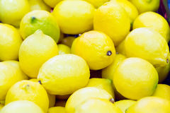 Background of yellow lemon Stock Photo