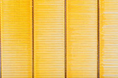 Background from yellow metal strips Royalty Free Stock Photography