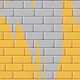 Background of yellow painted brick wall Royalty Free Stock Photos