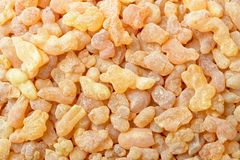 Background of pure frankincense resin, top view. Background of yellow pure frankincense resin, top view stock photography