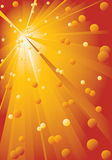 Background with yellow-red rays. Royalty Free Stock Photography