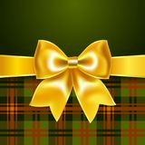 Background with yellow ribbon bow. 10eps. Perfect as invitation or congratulation stock illustration