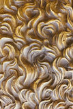 Background from yellow smooth decorative plaster - Stock Image Stock Photo