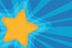 Background yellow star pop art Royalty Free Stock Image