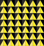 Background with yellow triangles. Raster. Royalty Free Stock Images