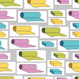 Background with yoga mats and blocks.   EPS,JPG. Stock Images