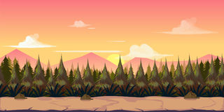 Background for your game, created in modern pinky colours. Sunset and twilight time. Stock Images