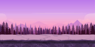 Background for your game, created in modern purple colours. Sunset and twilight time. Stock Photos