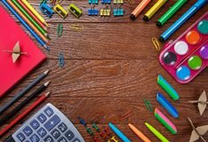 The background for your postcard is back to school royalty free stock image