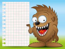Background for your text. Monster. Stock Photography