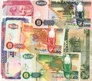 Background of Zambia kwacha banknotes Stock Photography