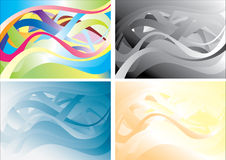 Background Zigzag. Abstract background of wavy lines of different colors stock illustration