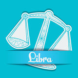 Background with zodiac sign Libra Stock Image