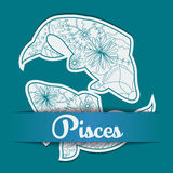 Background with zodiac sign Pisces. Vector background with zodiac sign Pisces Royalty Free Stock Image