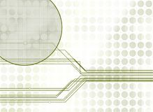 Background1. Backgroud image with mock circuitry and circular patterns Stock Photo