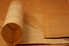 background12新闻用纸葡萄酒 免版税库存图片