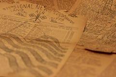 background6新闻用纸葡萄酒 免版税库存照片