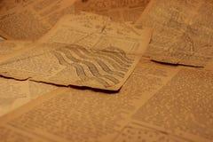 background7新闻用纸葡萄酒 库存图片