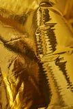 Backgroundd profondo ad alta densità di struttura dell'oro Fotografie Stock Libere da Diritti