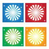 Backgrounds. Abstract four different colored backgrounds Royalty Free Stock Photos