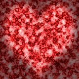 Backgrounds. Red backgrounds heart in inwardly Stock Photos