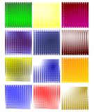 set of abstract colorful Backgrounds isolated Stock Photography