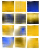 Set of abstract colorful Backgrounds isolated Royalty Free Stock Photography
