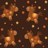 Backgrounds. Background with horses and decorative buttons Stock Image