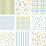 Backgrounds. Easter backgrounds with rabbits and eggs Royalty Free Stock Photo