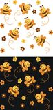Backgrounds. With the bees for scrapbook Royalty Free Stock Photos