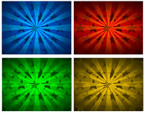 Backgrounds. Illustration of shiny stars backgrounds in different colors Stock Photography