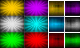 Backgrounds. Illustration of backgrounds in different colors and shapes Stock Photo