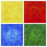 Backgrounds. Yellow, red, green, blue backgrounds isolated on white Royalty Free Stock Photography