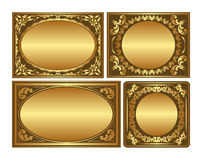 Backgrounds. Set of golden backgrounds with ornaments and copy space Royalty Free Stock Photos