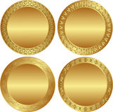 Backgrounds. Set of round golden background Royalty Free Stock Photography